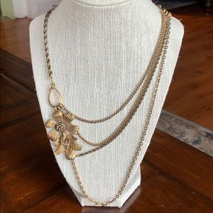 Lucky Brand  Antiqued Gold Necklace